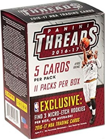 2016/17  Panini Threads NBA Basketball Blaster Box (Sealed)(11 Packs)