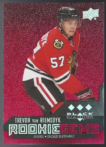 Trevor Van Riemsdyk Chicago Blackhawks Black Diamond Rookie Gems /150