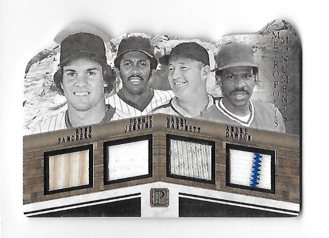 SANDBERG/JENKINS/HARTNETT/DAWSON 2016 Panini Pantheon Metropolis Moments patch /99