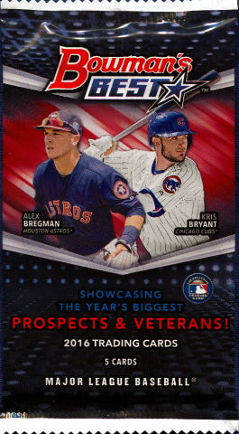 2016 Bowmans Best Baseball Hobby 5 Card Pack Sealed