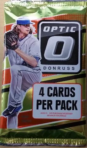 2016 Panini Donruss Optic Baseball Hobby 4 Card Pack Sealed Random