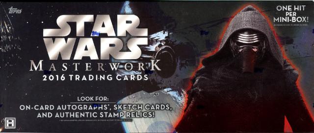 2016 Topps Star Wars Masterwork Trading Cards 8 Hobby Box Case (Sealed)
