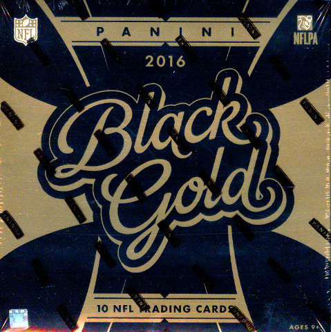 2016 Panini Black Gold Football 8 Hobby Box Case (Factory Sealed)