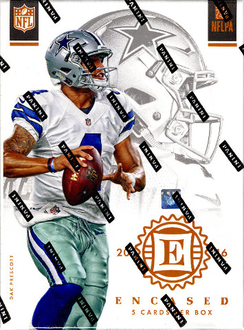 2016 Panini Encased Football 5 Card Hobby Pack/Box (Factory Sealed)