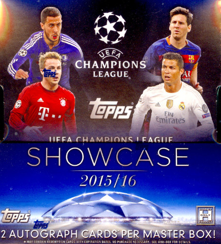 2015-16 Topps UEFA Champions League Showcase Soccer Sealed Hobby Box(2 Mini-Box)