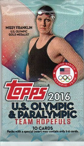 2016 Topps US Olympic & Paralympic Team Hopefuls Hobby Pack (Sealed)