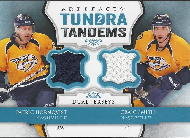 Patric Hornqvist Craig Smith 2013-14 UD Artifacts Tundra Tandems Blue Predators