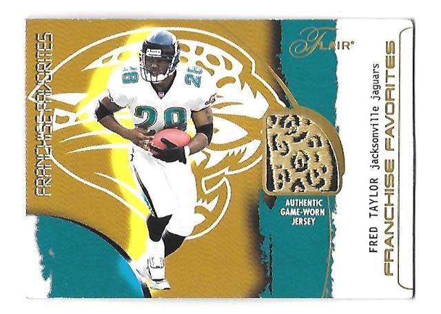 FRED TAYLOR 2002 Flair Franchise Favorites Jersey SP PR 300 Jacksonville Jaguars