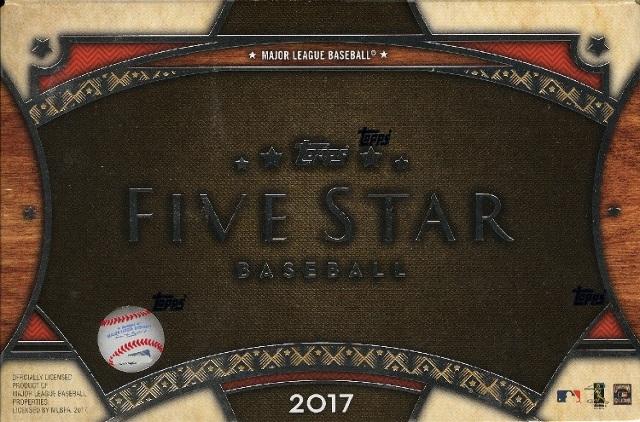 2017 Topps Five Star Baseball Hobby Box/Pack (Sealed)(2-Card s)