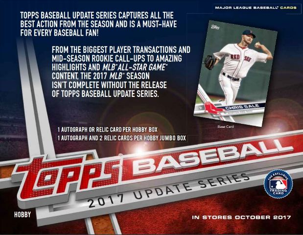 2017 Topps Update Series Baseball Hobby Box36 Packs Look 4 Cody Bellinger Rc