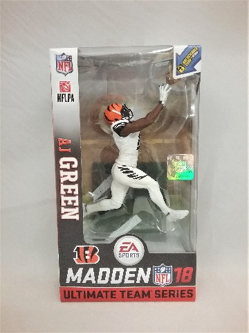 2017 A.J. Green Madden 18 McFarlane Figure White Team Series 1 EA Sports AJ A J