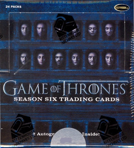 Game of Thrones Season 6 Trading Cards Box (2017 Rittenhouse) (Sealed)