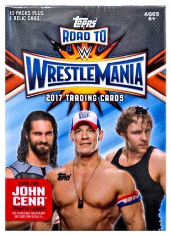 2017 Topps WWE Road to Wrestlemania Blaster Box (Sealed)