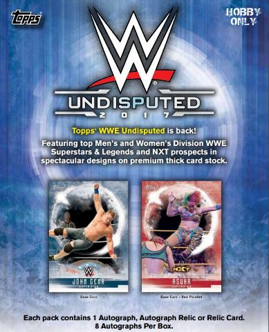 2017 Topps WWE Undisputed Hobby 8 Box Case (Factory Sealed)