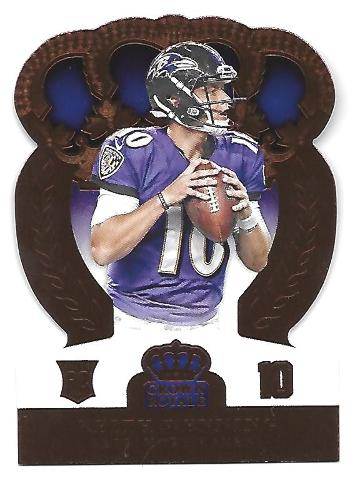 KEITH WENNING 2014 Panini Crown Royal Retail Bronze die-cut /10 Baltimore Ravens
