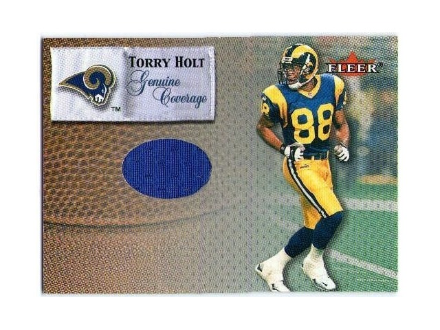 the latest 84745 b8acc TORRY HOLT 2000 Fleer Tradition Genuine Coverage Game Used Jersey Card BV$25