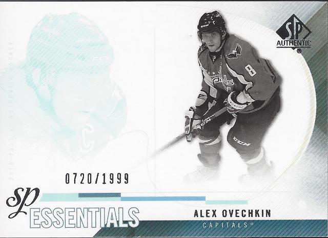Alexander Ovechkin 2010-11 UD SP Authentic Essentials Washington CApitals /1999