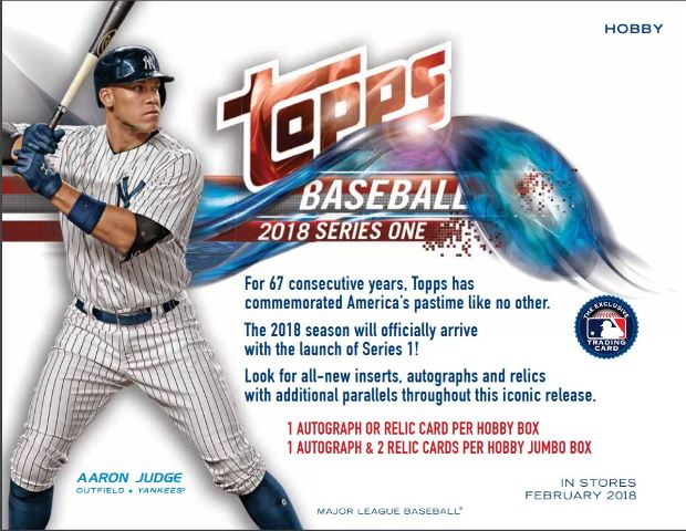 2018 Topps Series 1 Baseball Hobby 12 Box CASE Factory Sealed w/ 12 Silver Pack
