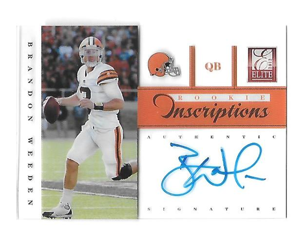 BRANDON WEEDEN 2012 Panini Elite Rookie Inscriptions Blue Ink auto PR 55