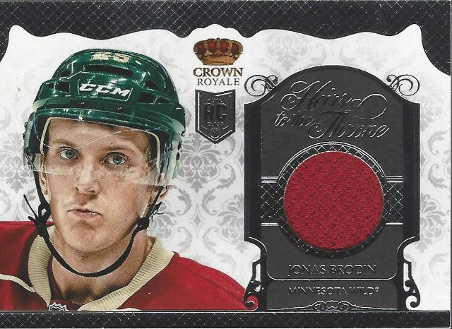 Jonas Brodin 2013-14 Panini Crown Royale Heirs to the Throne Relic Rookie Wild