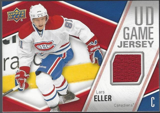 Lars Eller 2011-12 Upper Deck UD Series 1 Game Jersey Materials Canadiens