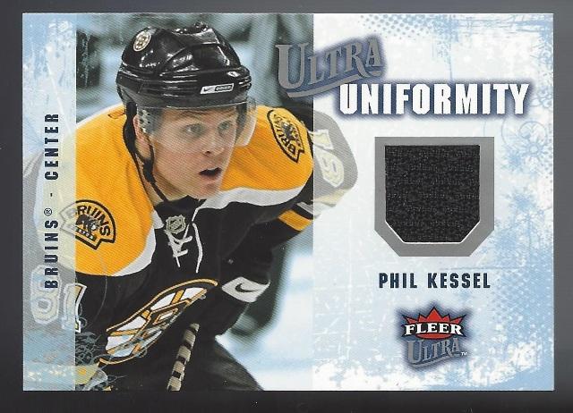 Phil Kessel Boston Bruins 2008 Fleer Ultra Uniformity Relic Card #UA-PK
