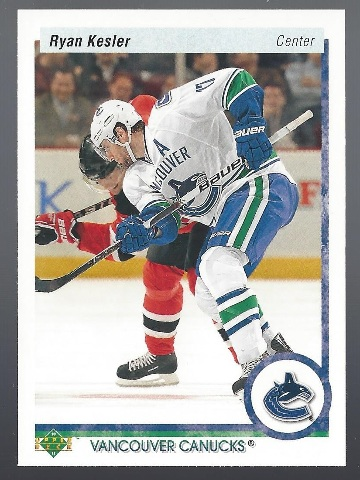 Ryan Kesler Vancouver Canucs 2010 Upper Deck Hockey #8