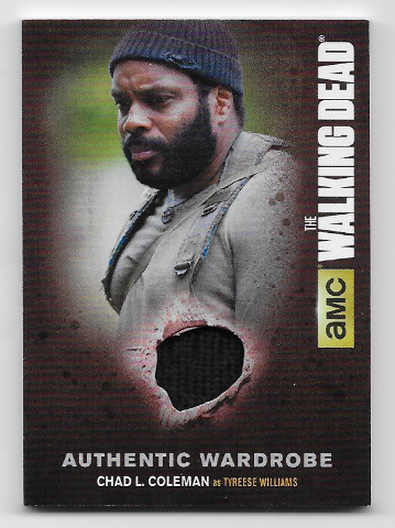 Tyreese Williams 2016 Cryptozoic  Walking Dead season 4 wardrobe relic M19