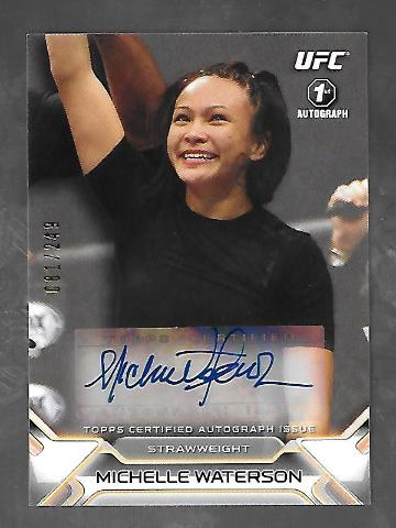 MICHELLE WATERSON 2016 Topps UFC Knockout auto /249 blue Autograph