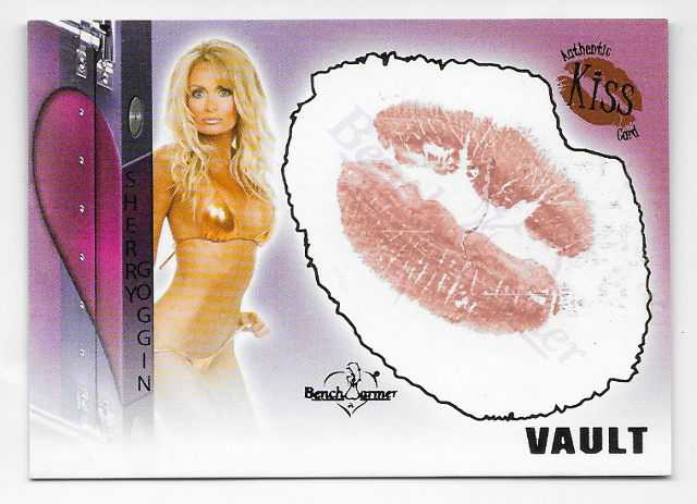Sherry Goggin 2012  Benchwarmer Vault Authentic Kiss Card #18