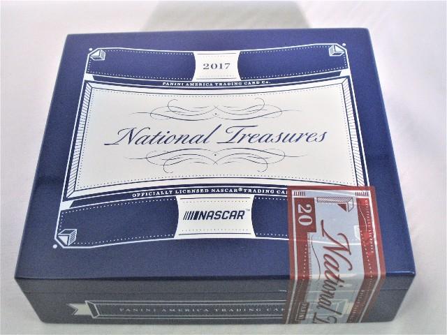 2017 Panini National Treasures NT NASCAR Trading Cards Empty Cedar Cigar Box