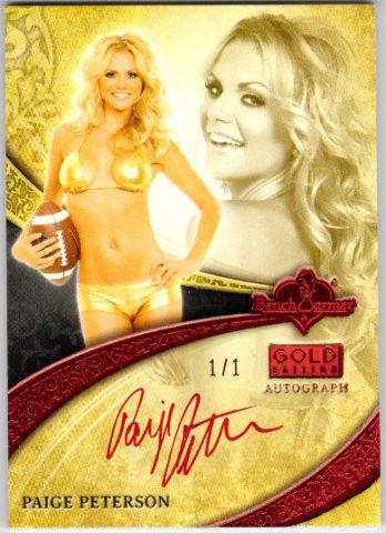 Paige Peterson  2013 Bench Warmer Gold Inscriptions #28 Autograph Red Foil 1/1