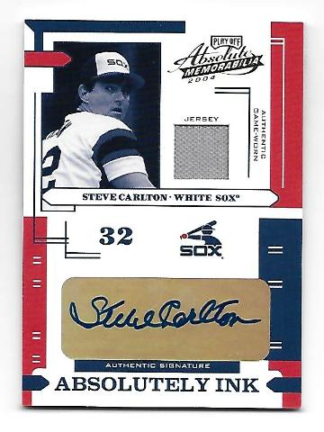 STEVE CARLTON 2004 Playoff Absolute Absolutely Ink auto patch /50