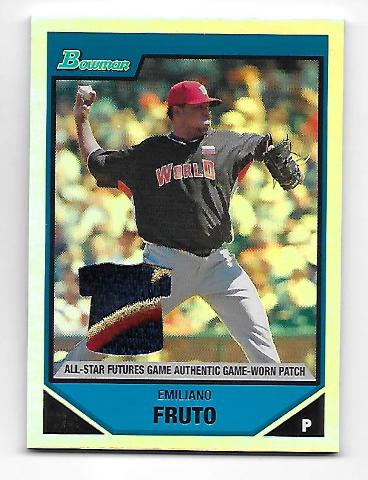 EMILIANO FRUTO 2007 Topps Bowman All-Star Futures Game patch /99 Nationals