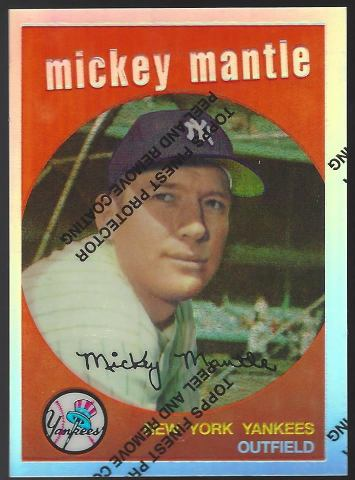 MICKEY MANTLE 1996 Topps Finest Commemorative Set 1959 Refractor #9