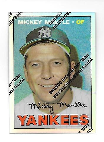 MICKEY MANTLE 1996 Topps Finest Commemorative Set 1967 Refractor #17
