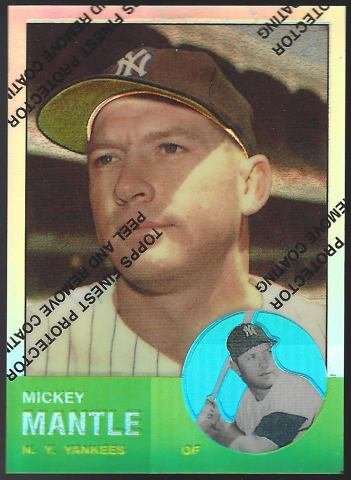 MICKEY MANTLE 1996 Topps Finest Commemorative Set 1963 Refractor #13