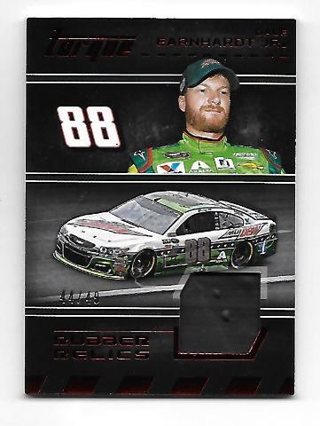 Dale Earnhardt Jr NASCAR 2016 Panini Torque Rubber Relics Tire Swatch /49