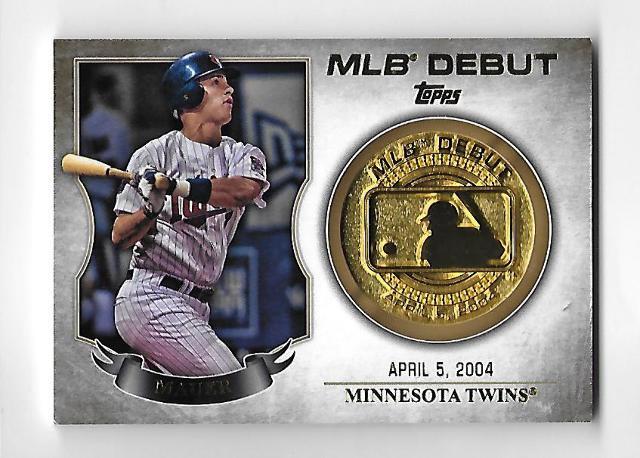 JOE MAUER 2016 Topps MLB Debut Gold Medallion #MDM-JM Minnesota Twins