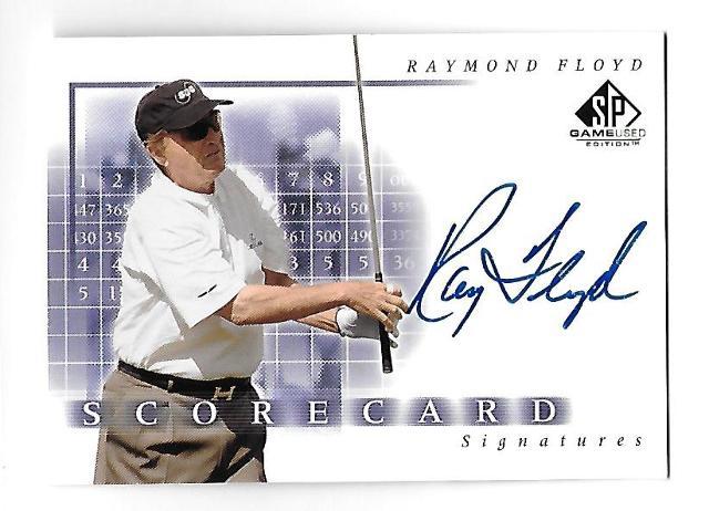 RAYMOND FLOYD 2002 Upper Deck SP Scorecard Signatures Autograph #SS-RF