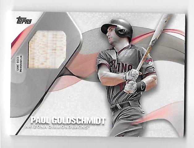 PAUL GOLDSCHMIDT 2017 Topps Major League Material Game-Used bat swatch #MLM-PG