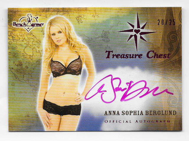 Anna Sophia Berglund 2013 Benchwarmer Treasure Chest auto /25 Purple Autograph