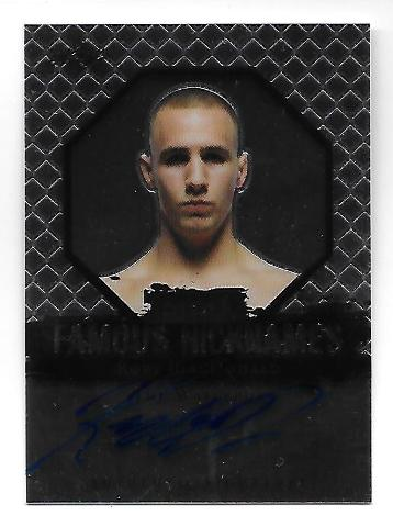 RORY MACDONALD Waterboy 2011 Leaf UFC MMA Metal Famous Nicknames Signature auto