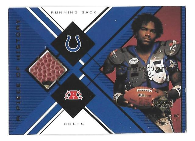 EDGERRIN JAMES 1999 UD Black Diamond a Piece of History Patch #EJ Colts
