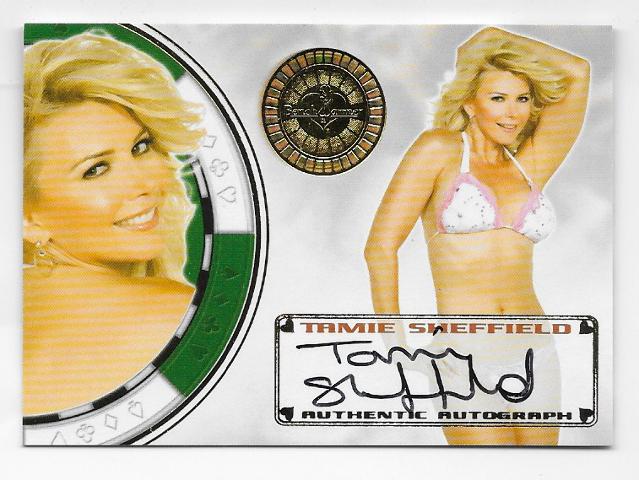 Tammie Sheffield 2013 BenchWarmer Vegas Baby Gold autograph #78 auto