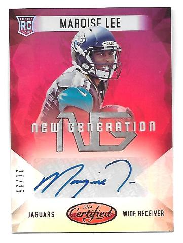 MARQISE LEE 2014 Certified New Generation Rookie RC Autograph Mirror Red auto/25