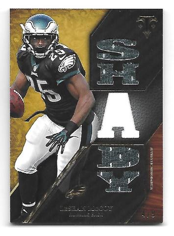 """LeSEAN """"SHADY"""" McCOY 2014 Topps Triple Threads Relics Gold patch /9 Eagles Bills"""