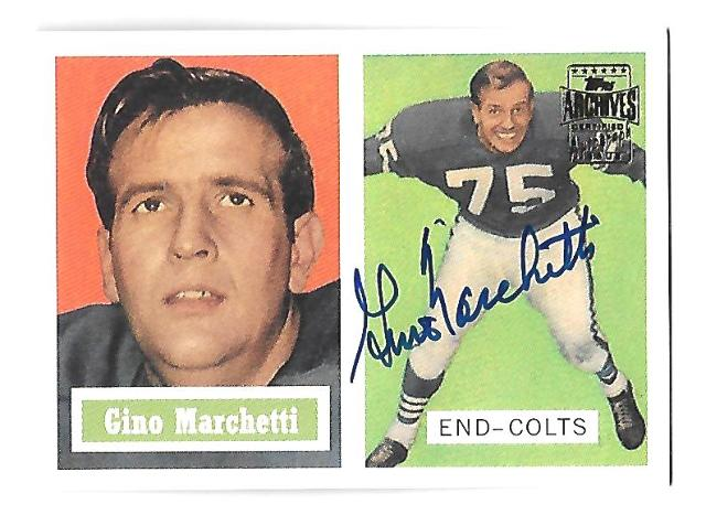 GINO MARCHETTI 2001 Topps Archives Certified Autograph auto #5 Baltimore Colts