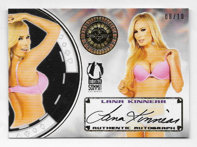 Lana Kinnear 2014 BenchWarmer Industry Summit Vegas Baby Gold /10 auto autograph