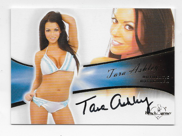 Tara Ashley 2012 Benchwarmer Authentic Autograph #11 auto